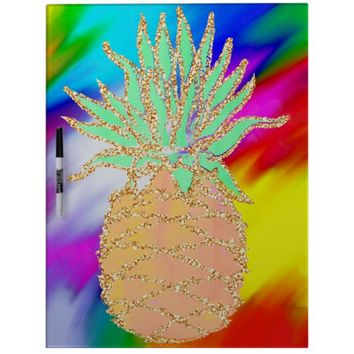 Water Colored pineapple Dry-Erase Board