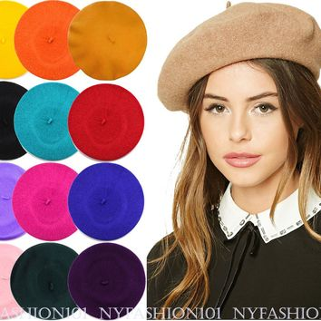 NYFASHION101® French Style Lightweight Casual Classic Solid Color Wool Beret