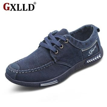 Canvas Men Shoes Denim Lace-Up Men Casual Shoes New 2017 Plimsolls Breathable Male Footwear Spring Autumn T066