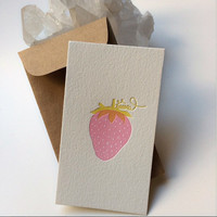 Strawberry, Mini Card