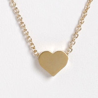 Tiny Heart's Club Gold Heart Necklace