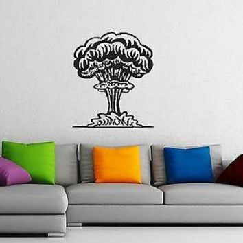 Wall Stickers Vinyl Decal Explosion Atomic Bomb Disaster Unique Gift ig1342