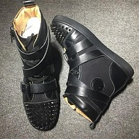 Cl Christian Louboutin Lou Spikes Style #2187 Sneakers Fashion Shoes