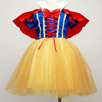 infant baby Princess snow white dress girl toddler dresses children kids Girls costume cosplay roupas Fancy Christmas fantasia