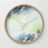 Mirror Mountains Wall Clock by Linda Luttinger