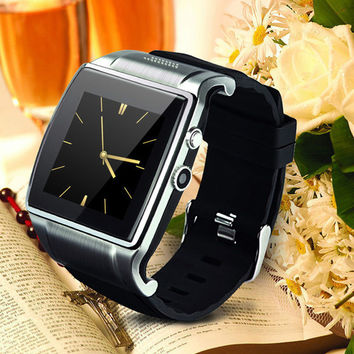 2015 Smart Watch cell phone Wrist Watch Hi Watch 2 With 2.0MP Camera Bluetooth Dial Music FM Video Remote Support SIM Card and TF Card