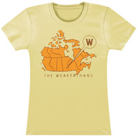 Weakerthans Women's  Canada Map Girls Jr Soft tee Ivory