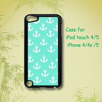Anchor - ipod 5 case ,ipod 4 case, iphone 4 case, iphone 5 case, ipod case, ipod touch case, ipod touch 4 case,  ipod touch 5 case