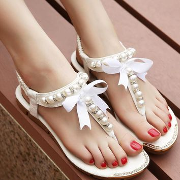 Free Shipping Women Sandals 2015 flip flop rhinestone shoes Women flat sandals with pe