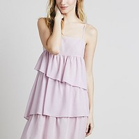 Intimately Womens Ruffles Rows Slip