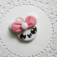 Kawaii Mouse Necklace Charm Necklace Pendant for Party Favors, Necklaces, Back Packs, Zippers, DIY Projects and More