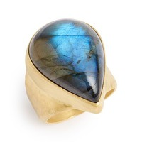 Women's Heather Benjamin Pear Labradorite Ring - Blue