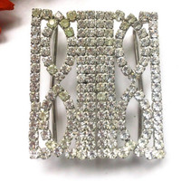 Art Deco Rhinestone Buckle Vintage Retro Glam Fashion Accessory