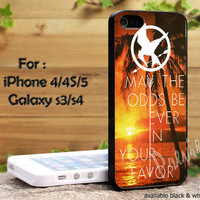 Hunger Games Quote may the odds be ever in your favor beach sunset natural iPhone 4, iPhone 4s, iPhone 5, Samsung Galaxy S3, S4 Case