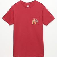 Poler Mod Pocket T-Shirt - Mens Tee - Red