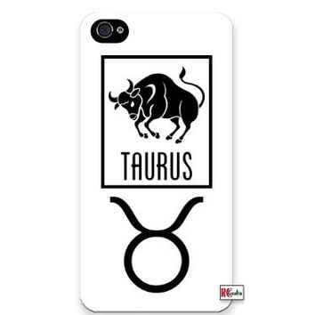 Premium Direct Print Taurus Sign Zodiac Horoscope Symbol iphone 6 Quality Hard Snap On Case for iphone 6/Apple iphone 6 - AT&T Sprint Verizon - White Case PLUS Bonus RCGRafix The Best Iphone Business Productivity Apps Review Guide