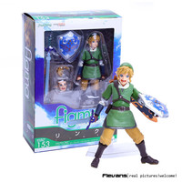 "6"" The Legend of Zelda Skyward Sword Link Boxed 14cm PVC Action Figure Collection Model Doll Toy Gift Figma 153 80's"