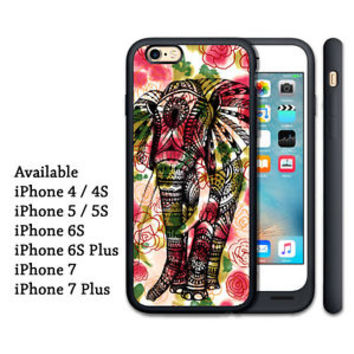 Rare Cute Floral Aztec Elephant Custom Print On Hard Case For iPhone 7 plus Only