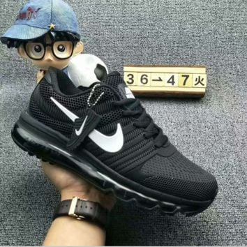 NIKE AIR MAX Fashion Sport Casual Shoes Sneakers Black-white hook