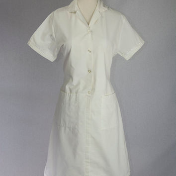 Vintage Nurse Uniform Dress Asylum Costume S/M