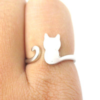 Silver Cat Ring, Cat Ring, Adjustable Ring, Animal Jewellery, Boho Ring, Silver Jewellery,Silver Jewelry