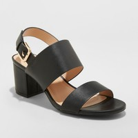 Women's Haley Two Strap City Sandal Pumps - A New Day™