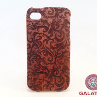 "Eco friendly iPhone 4 / 4S Case ""Late Tulip"" - wooden iphone case,iphone 4 case,iphone case wood,case wooden iphone"