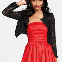dELiAs - Allover Lace Moto Jacket