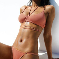 Hot Summer Beach Swimsuit New Arrival Swimwear Sexy Pink Bikini [10873135183]