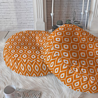 Aimee St Hill Leela Orange Floor Pillow Round