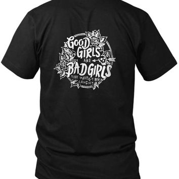 5 Seconds Of Summer Good Girls Are Bad Girls 2 Sided Black Mens T Shirt