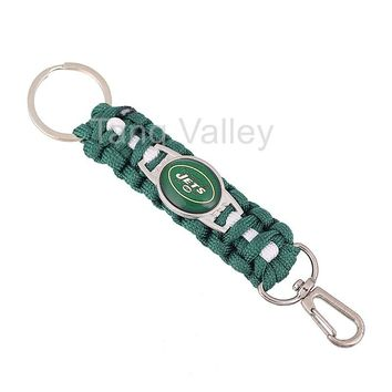 NEW New York Jets Paracord Keychain Drop Shipping! KY0021