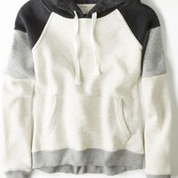AEO 's Colorblock Hoodie (Heather Grey)