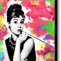 Audrey Hepburn Stretched Canvas Print / Canvas Art By Cool Canvas