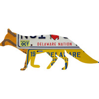 Delaware License Plate Grey Fox
