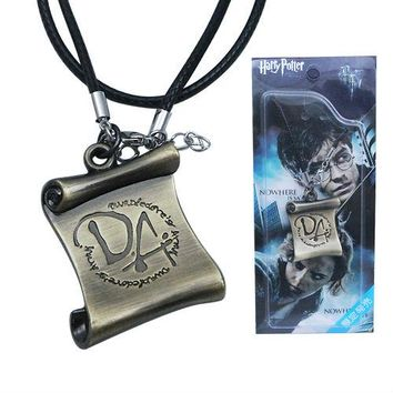 10pcs/lot HARRY POTTER Dumbledore Army DA Necklace for Cosplay Comic Con
