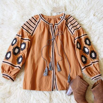 Arizona Sky Blouse in Rust