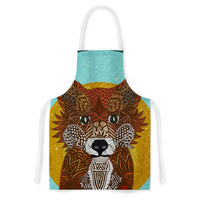 "Art Love Passion ""Colored Fox"" Blue Orange Artistic Apron"