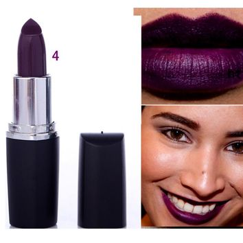 Fashion Waterproof  Dark Purple Lipstick