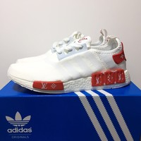 Louis Vuitton x Adidas NMD Boost - White/Red