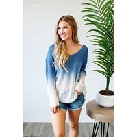 Call Me Back Ombre Top (Blue)