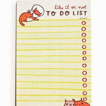To Do List Notepad - Cone of Shame - Like it or Not - Funny To Do List by boygirlparty