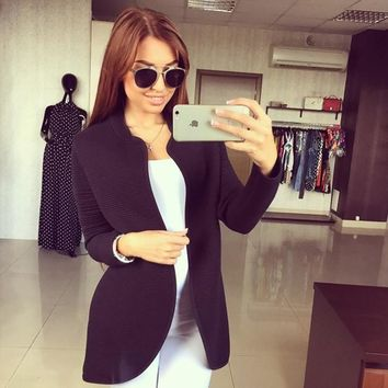 Women Lady Outwear High Quality Vogue Charming 2017 Designed Stylish Sexy Long Sleeve Cardigan Coat Overcoat Jacket A417