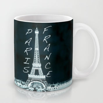 La Tour Eiffel - The Eiffel tower inverse with text Mug by Bruce Stanfield
