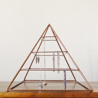 Welded Pyramid Jewelry Display in Copper