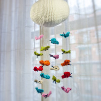 PDF Crochet Pattern PHOTOTUTORIAL & Mobile Tutorial - Butterfly Mobile - Permission to Sell Finished Items