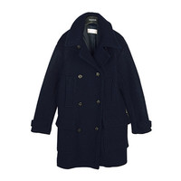 Button Embellished Wool Coat by Stylenanda