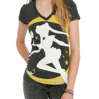 Sailor Moon Foil Crest Girls Top
