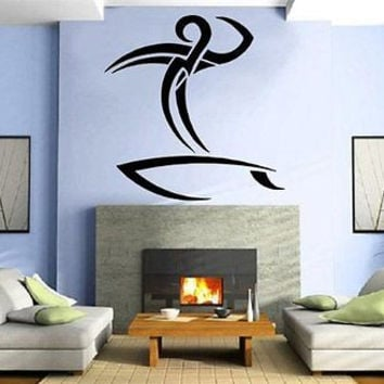 Tribal Surfer Surfing Surf Board Wall Art Sticker Decal M278