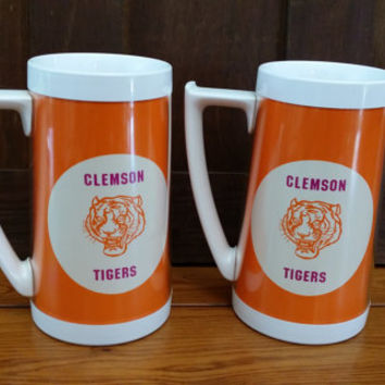 Vintage Westbend Thermo-Serve Insulated Clemson Tiger Beer Mug Stein Great Gift for a Sports Fan